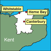 Canterbury, Whitstable, Herne Bay area